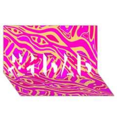 Pink Abstract Art #1 Dad 3d Greeting Card (8x4) by Valentinaart
