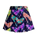 Colorful High Heels Pattern Mini Flare Skirt View1