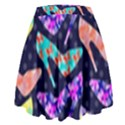 Colorful High Heels Pattern High Waist Skirt View2