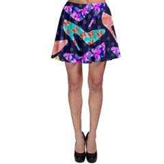 Colorful High Heels Pattern Skater Skirt
