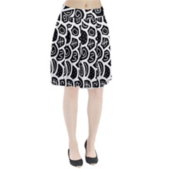 Black And White Playful Design Pleated Skirt