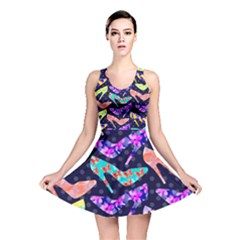 Colorful High Heels Pattern Reversible Skater Dress