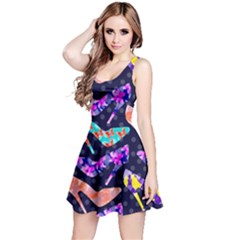 Colorful High Heels Pattern Reversible Sleeveless Dress