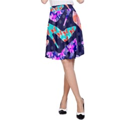 Colorful High Heels Pattern A Line Skirt