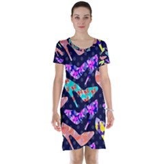 Colorful High Heels Pattern Short Sleeve Nightdress