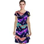 Colorful High Heels Pattern Cap Sleeve Nightdress