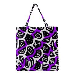 Purple Playful Design Grocery Tote Bag by Valentinaart