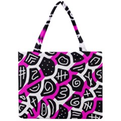 Magenta Playful Design Mini Tote Bag by Valentinaart