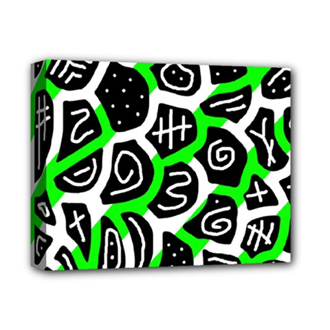 Green Playful Design Deluxe Canvas 14  X 11  by Valentinaart