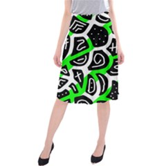 Green Playful Design Midi Beach Skirt by Valentinaart