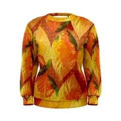 Fall Colors Leaves Pattern Women s Sweatshirt