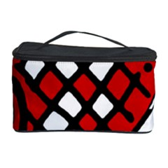 Red high art abstraction Cosmetic Storage Case by Valentinaart