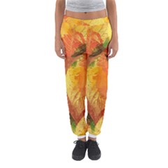 Fall Colors Leaves Pattern Women s Jogger Sweatpants