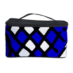 Blue High Art Abstraction Cosmetic Storage Case by Valentinaart