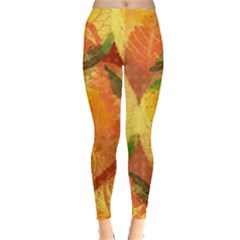Fall Colors Leaves Pattern Leggings