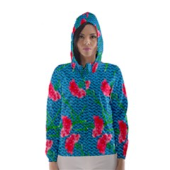 Carnations Hooded Wind Breaker (women)