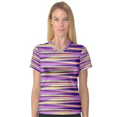 Abstract1 Copy Women s V-Neck Sport Mesh Tee by olgart
