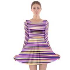 Abstract1 Copy Long Sleeve Skater Dress by olgart