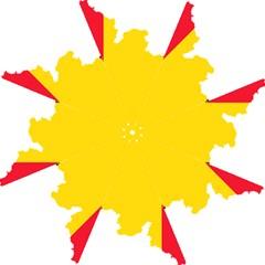 Belgium Flag Map Hook Handle Umbrellas (large) by abbeyz71