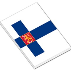 State Flag Of Finland  Large Memo Pads by abbeyz71