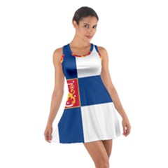 State Flag Of Finland  Cotton Racerback Dress by abbeyz71