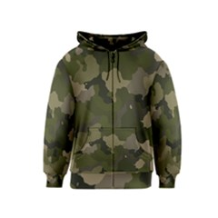 Huntress Camouflage Kids  Zipper Hoodie by TRENDYcouture