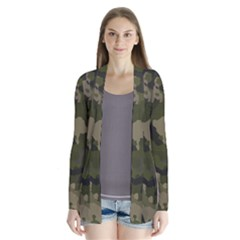 Huntress Camouflage Drape Collar Cardigan by TRENDYcouture