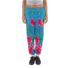Carnations Women s Jogger Sweatpants