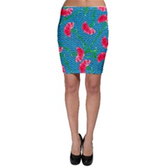 Carnations Bodycon Skirt