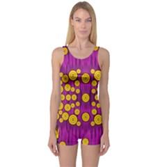Orange Tree As Pop Art One Piece Boyleg Swimsuit by pepitasart
