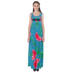 Carnations Empire Waist Maxi Dress by DanaeStudio