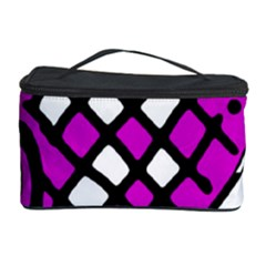 Magenta High Art Abstraction Cosmetic Storage Case by Valentinaart