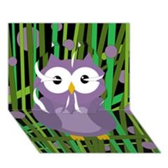 Purple Owl Clover 3d Greeting Card (7x5) by Valentinaart