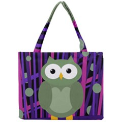 Green And Purple Owl Mini Tote Bag by Valentinaart