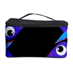 Blue Fishes Cosmetic Storage Case by Valentinaart
