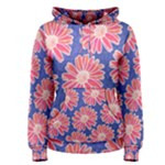 Pink Daisy Pattern Women s Pullover Hoodie