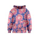Pink Daisy Pattern Kids  Pullover Hoodie View1