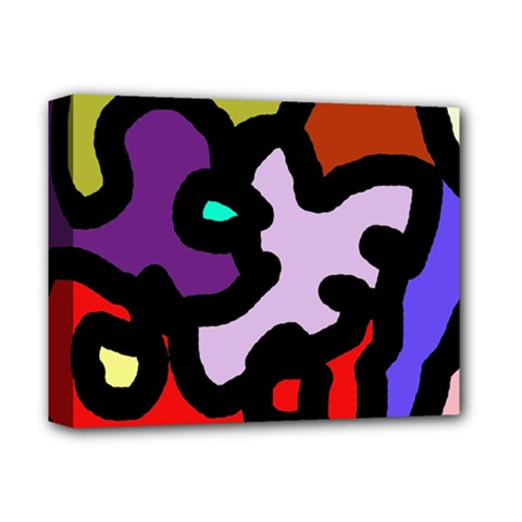 Colorful Abstraction By Moma Deluxe Canvas 14  X 11  by Valentinaart