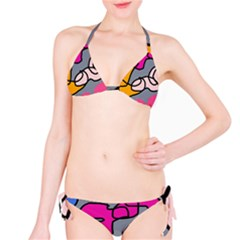 Colorful Abstract Design By Moma Bikini Set by Valentinaart
