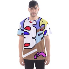 Abstract Comic Men s Sport Mesh Tee by Valentinaart