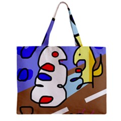 Abstract Comic Zipper Mini Tote Bag by Valentinaart