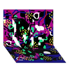 Abstract Colorful Chaos Love 3d Greeting Card (7x5)