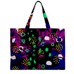 Abstract Colorful Chaos Zipper Mini Tote Bag by Valentinaart