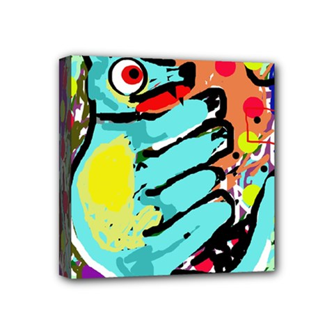 Abstract Animal Mini Canvas 4  X 4  by Valentinaart