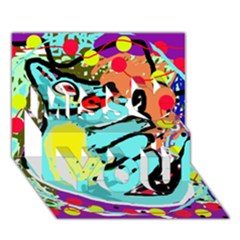 Abstract Animal Miss You 3d Greeting Card (7x5)