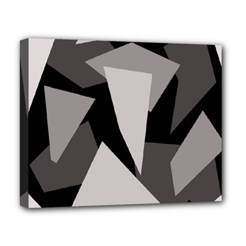 Simple Gray Abstraction Deluxe Canvas 20  X 16   by Valentinaart