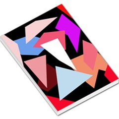 Colorful geometrical design Large Memo Pads by Valentinaart