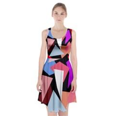 Colorful Geometrical Design Racerback Midi Dress