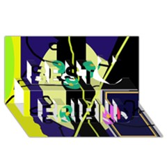 Crazy Abstraction By Moma Best Friends 3d Greeting Card (8x4) by Valentinaart