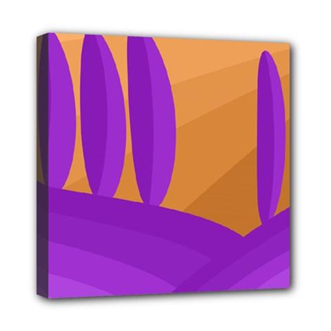 Orange And Purple Landscape Mini Canvas 8  X 8  by Valentinaart